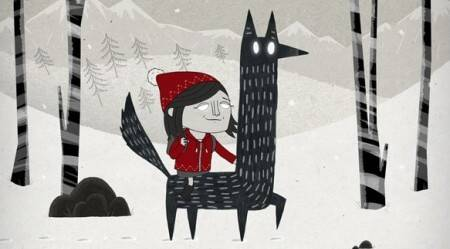 Dec 1: Marzipan Reindeer (Tony Johnson & Holly and the Wolf)