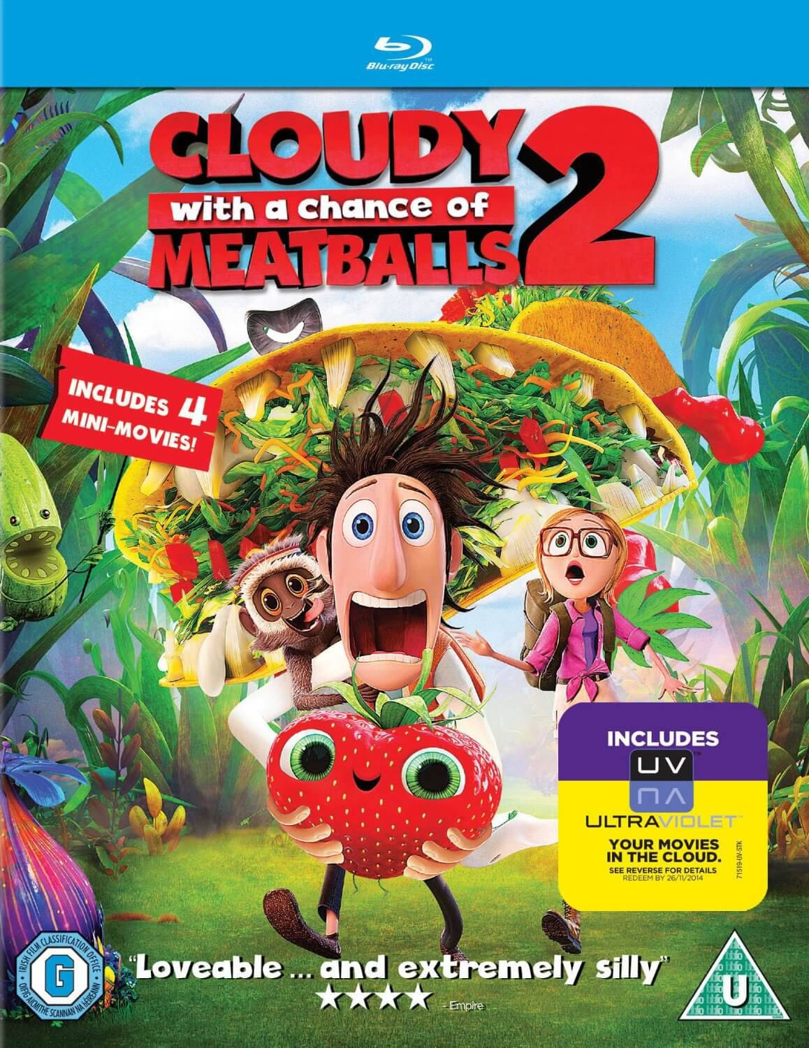 Cloudy With A Chance of Meatballs 2 - Blu Ray