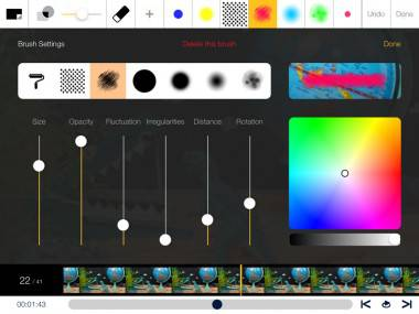 Brush options for digital drawing in StopMo Studio