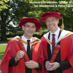Mackinnon and Saunders animated at receiving Honorary Degrees